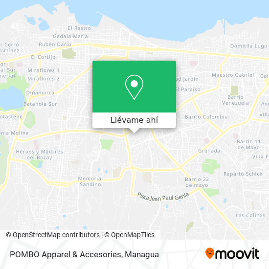 Mapa de POMBO Apparel & Accesories