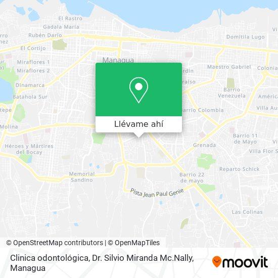 Mapa de Clinica odontológica, Dr. Silvio Miranda Mc.Nally