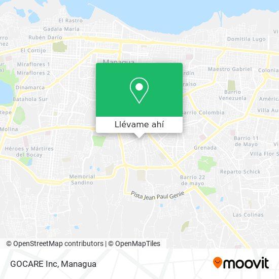 Mapa de GOCARE Inc