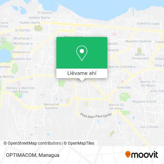 Mapa de OPTIMACOM
