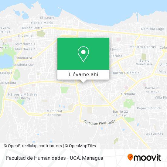 Mapa de Facultad de Humanidades - UCA