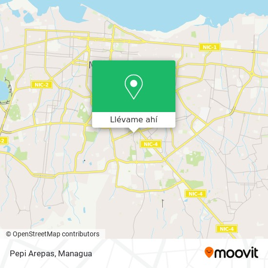 Mapa de Pepi Arepas