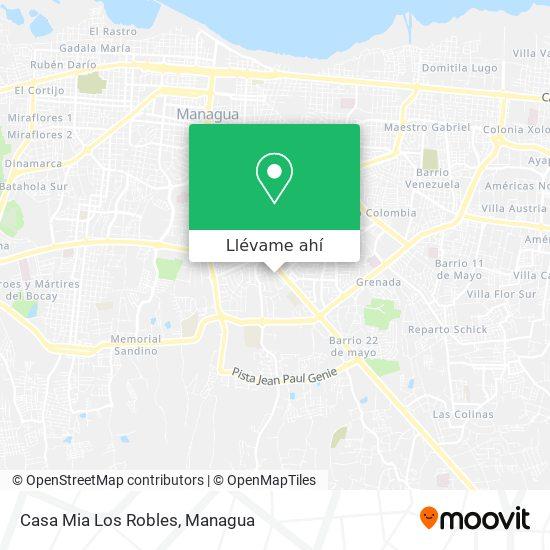 Mapa de Casa Mia Los Robles