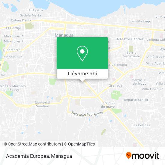 Mapa de Academia Europea