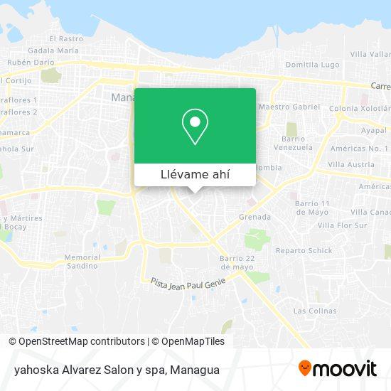 Mapa de yahoska Alvarez Salon y spa