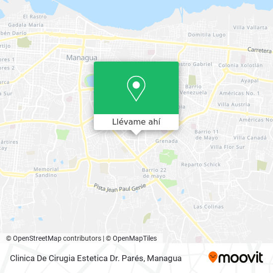Mapa de Clinica De Cirugia Estetica Dr. Parés