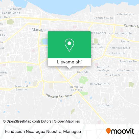 Mapa de Fundación Nicaragua Nuestra