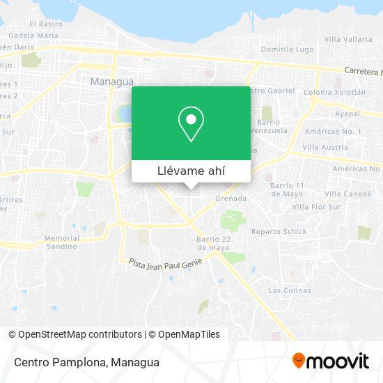 Mapa de Centro Pamplona