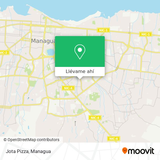 Mapa de Jota Pizza