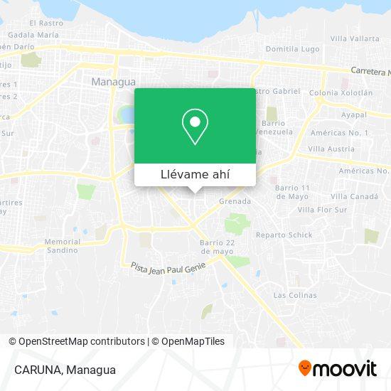 Mapa de CARUNA