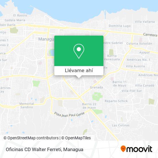 Mapa de Oficinas CD Walter Ferreti