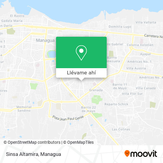 Mapa de Sinsa Altamira