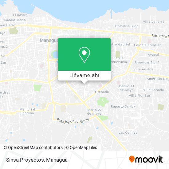 Mapa de Sinsa Proyectos