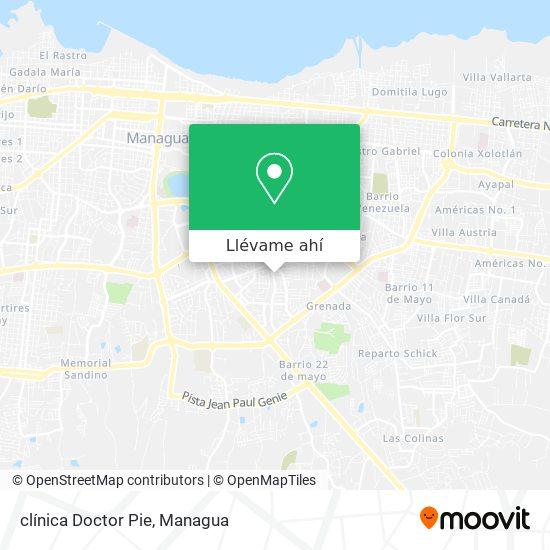 Mapa de clínica Doctor Pie