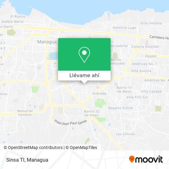 Mapa de Sinsa TI