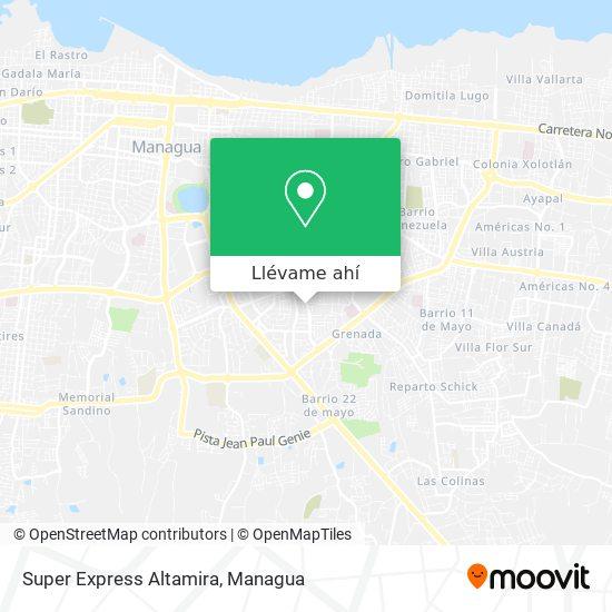 Mapa de Super Express Altamira