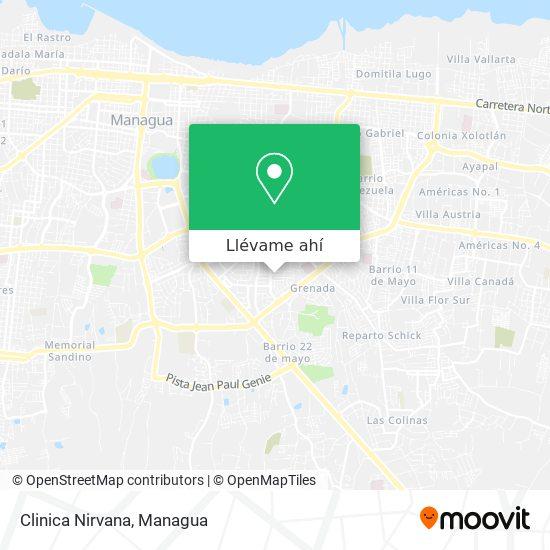 Mapa de Clinica Nirvana