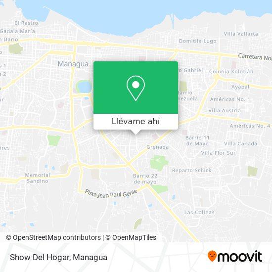 Mapa de Show Del Hogar