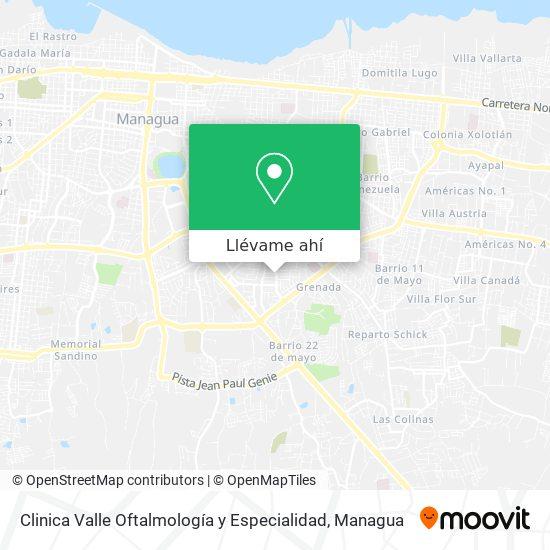 Mapa de Clinica Valle Oftalmología y Especialidad
