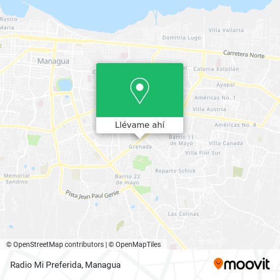 Mapa de Radio Mi Preferida