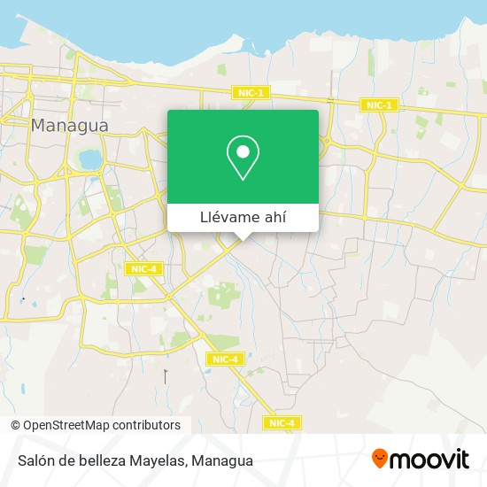Mapa de Salón de belleza Mayelas
