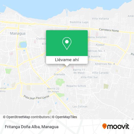 Mapa de Fritanga Doña Alba