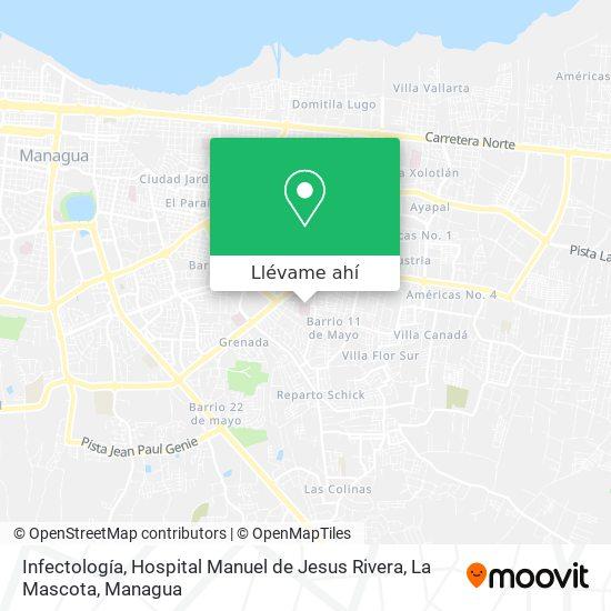 Mapa de Infectología, Hospital Manuel de Jesus Rivera, La Mascota