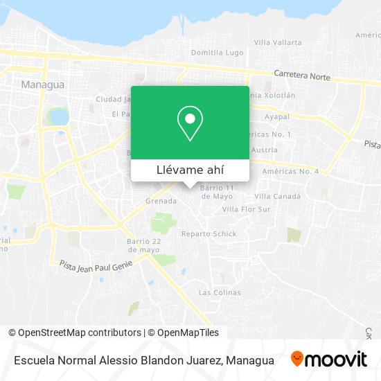 Mapa de Escuela Normal Alessio Blandon Juarez
