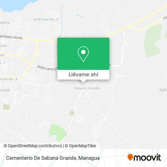 Mapa de Cementerio De Sabana Grande
