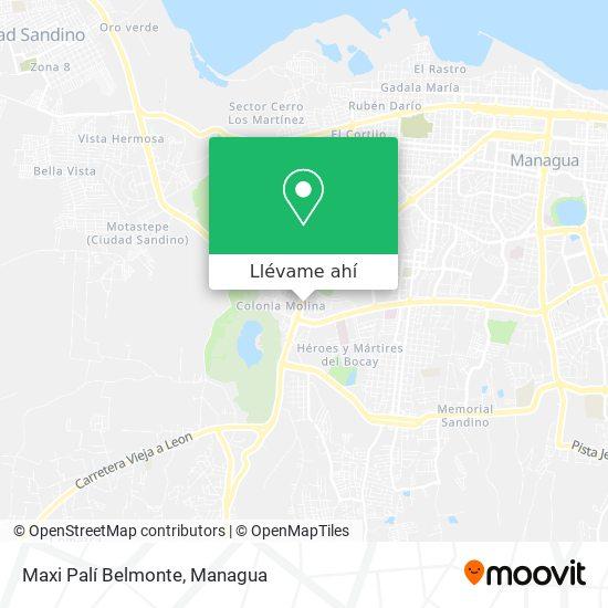 Mapa de Maxi Palí Belmonte