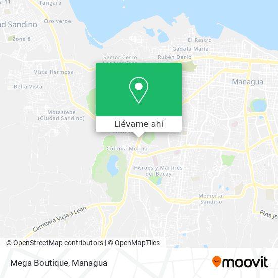 Mapa de Mega Boutique