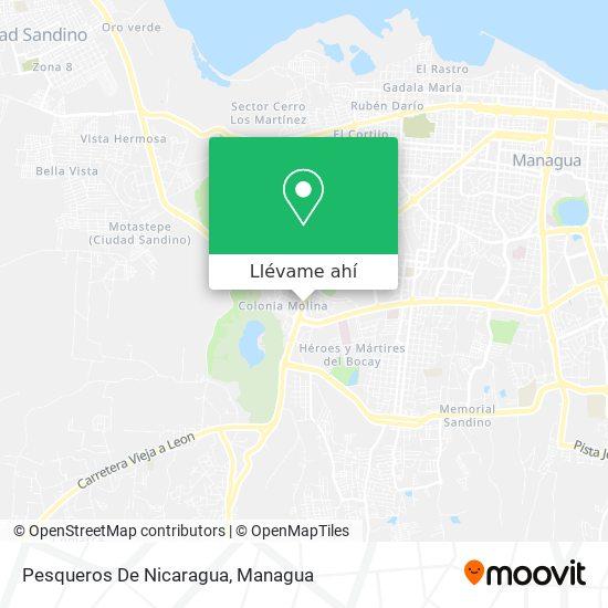 Mapa de Pesqueros De Nicaragua