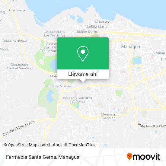 Mapa de Farmacia Santa Gema