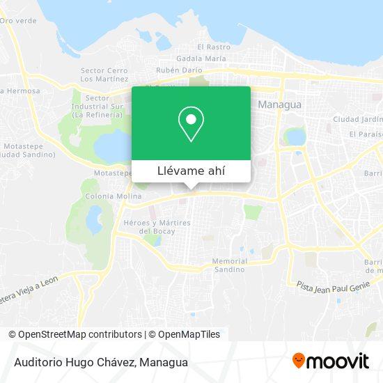 Mapa de Auditorio Hugo Chávez