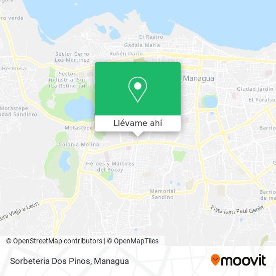 Mapa de Sorbeteria Dos Pinos