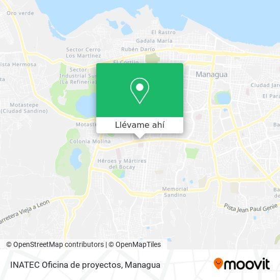 Mapa de INATEC Oficina de proyectos