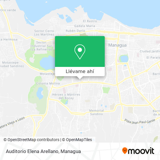 Mapa de Auditorio Elena Arellano