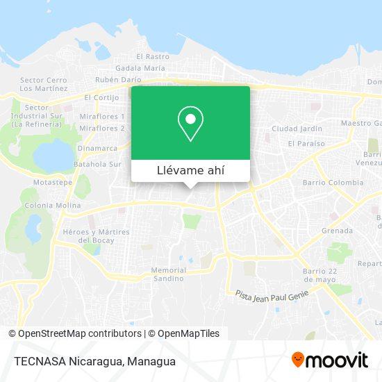 Mapa de TECNASA Nicaragua