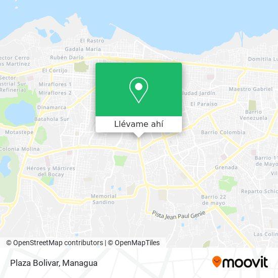Mapa de Plaza Bolivar