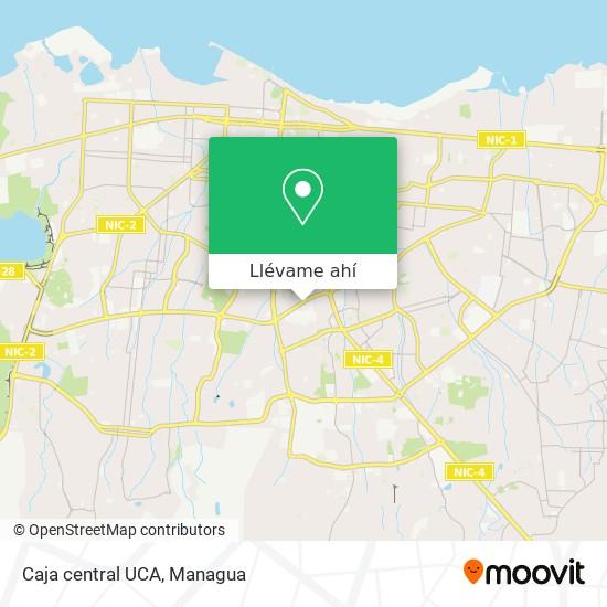 Mapa de Caja central UCA