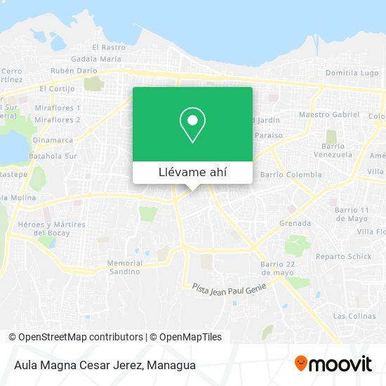 Mapa de Aula Magna Cesar Jerez