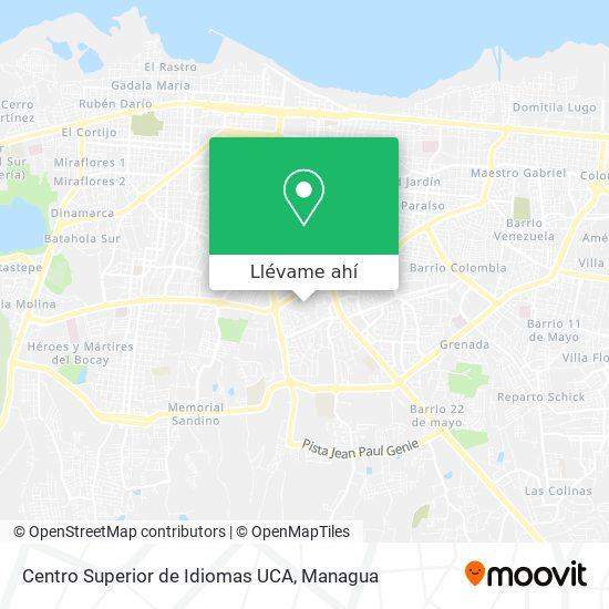 Mapa de Centro Superior de Idiomas UCA
