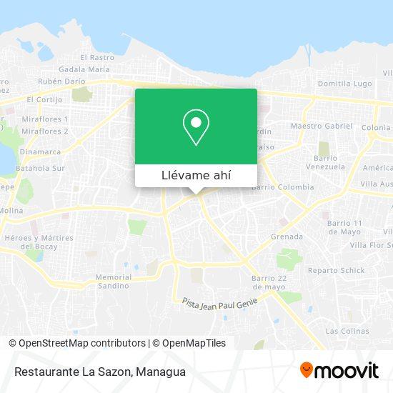 Mapa de Restaurante La Sazon