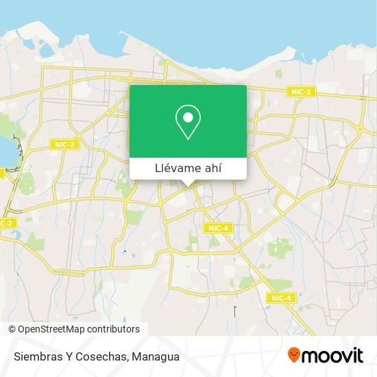 Mapa de Siembras Y Cosechas