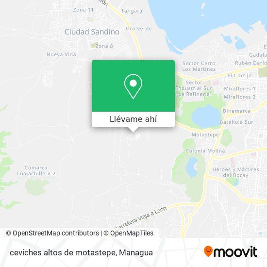 Mapa de ceviches altos de motastepe