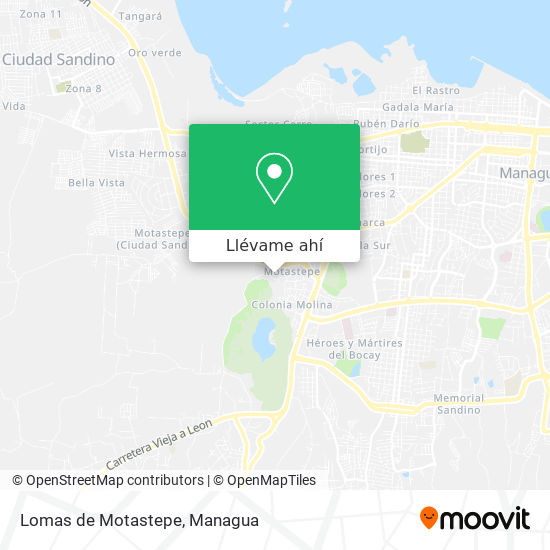 Mapa de Lomas de Motastepe