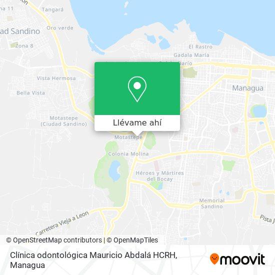 Mapa de Clínica odontológica Mauricio Abdalá HCRH