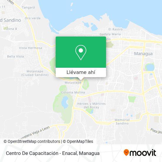 Mapa de Centro De Capacitación - Enacal