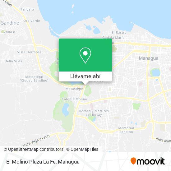 Mapa de El Molino Plaza La Fe