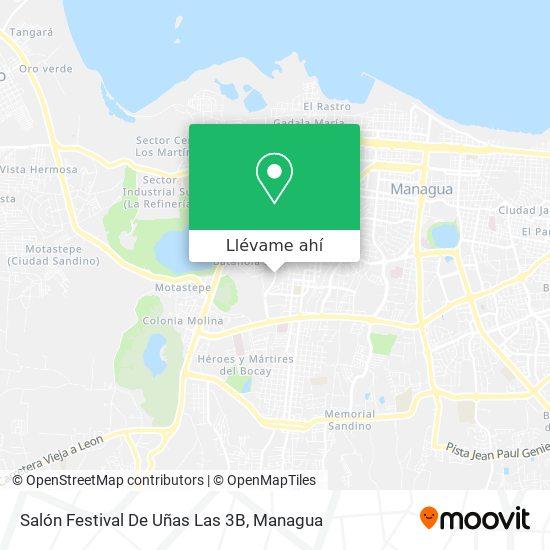 Mapa de Salón Festival De Uñas Las 3B